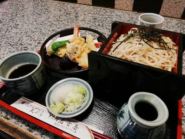 「天ざる 1250円」@そば処 名古屋の写真