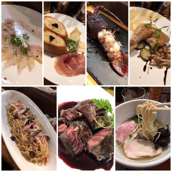 「貸切りコース料理+🍷+鶏清湯塩らーめん」@麺庵 小島流の写真