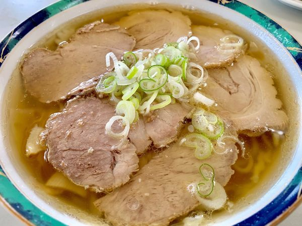「ハーフ&ハーフチャーシュー麺」@佐野らーめん 麺龍の写真