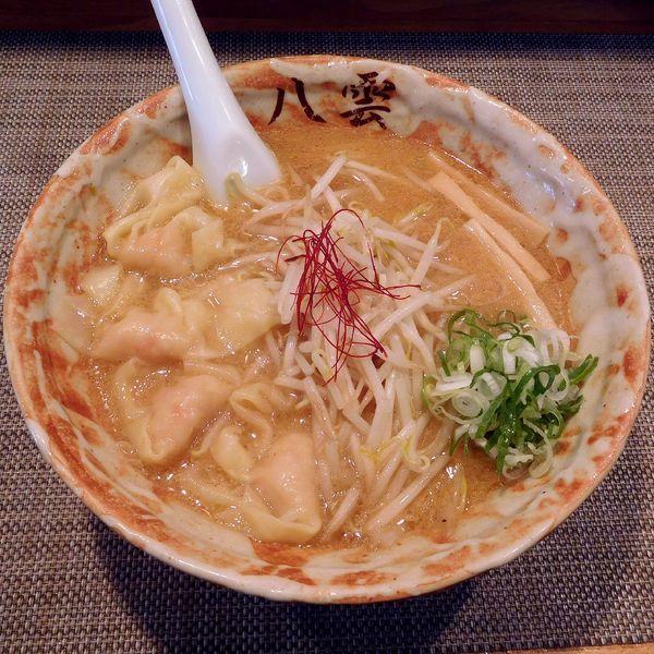 「海老ワンタンメン(味噌 980円)」@麺匠 八雲 大和店の写真