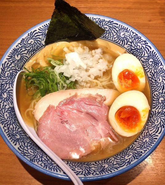 「【数量限定】味玉冷やし煮干しそば」@麺や 渡海の写真