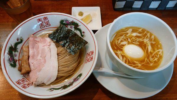 「【限定】昆布水のつけ麺(塩)¥900-+味玉¥100-」@塩らーめん 千茶屋の写真