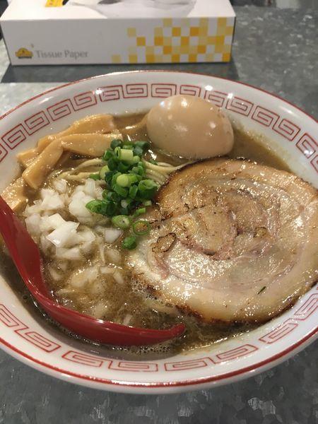 「煮干しそば+味玉(サービス)」@らーめんキッチン かえでの写真