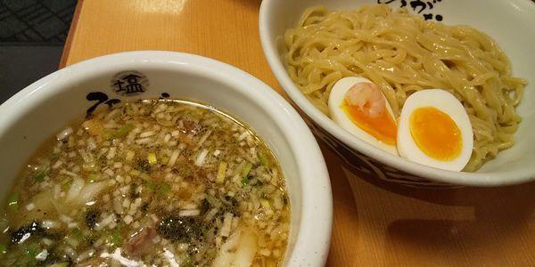 「つけ麺ひるがお盛」@塩専門 ひるがお 東京駅店の写真