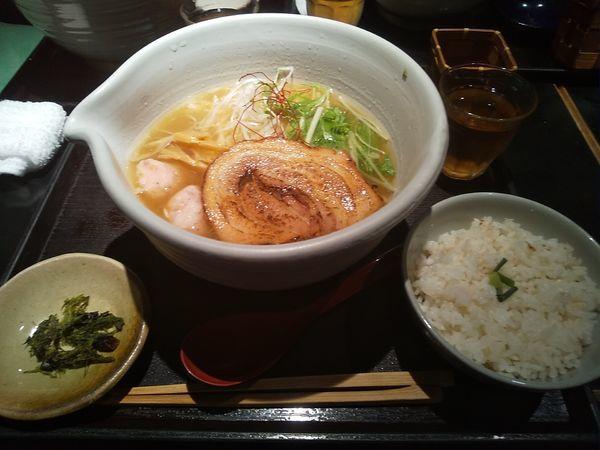 「銀笹ラーメン 塩 半鯛飯」@麺処 銀笹の写真