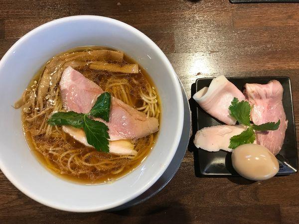 「特製中華そば」@麺道 麒麟児の写真
