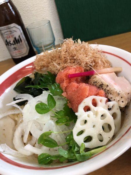 「【限定】明太粒子和え蕎麦S(明太増量+タルタル)2000円」@MENYA 食い味の道有楽の写真