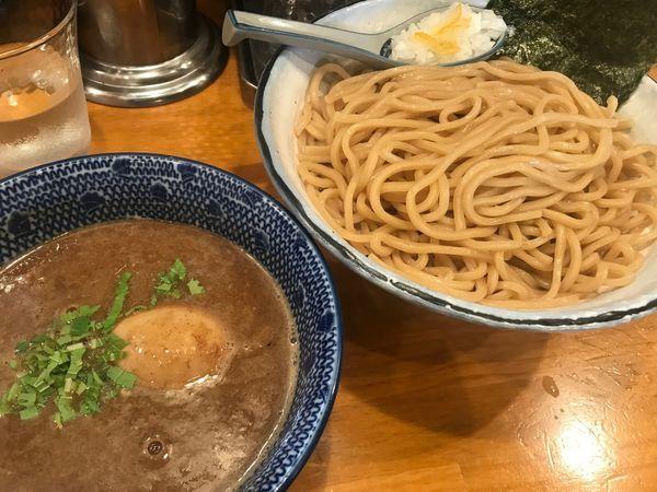 「味玉つけ麺(大盛・あつもり)」@麺屋 海心の写真