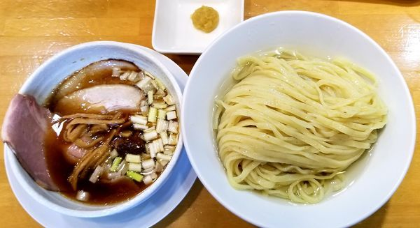 「昆布水つけ麺(柚子トッピング)ごろにくめし」@自家製中華そば 麺の虜の写真