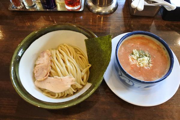 「【限定】鶏トマトつけめん¥920」@活龍 期間限定麺処 みつきの写真