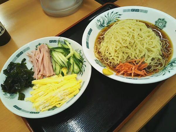「黒酢しょうゆ冷し麺」@日高屋 川越宮元町店の写真