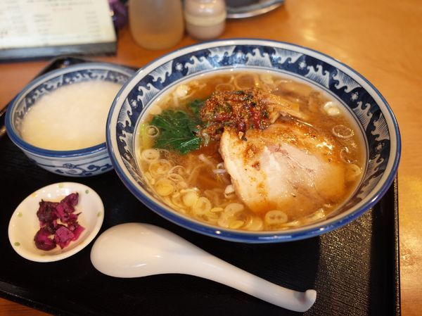 「Cセット(けんけん香麺+中華粥 小)…1120円」@麺・粥 けんけんの写真