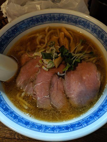 「らーめん+味玉+肉増し」@燦燦斗の写真