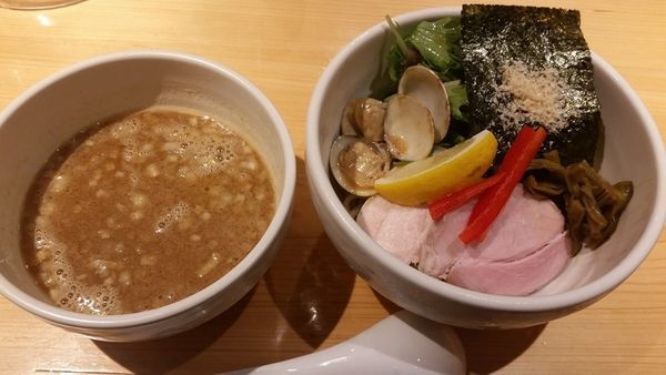 「鶏と蛤の濃厚つけ麺」@Ginza Noodles むぎとオリーブの写真