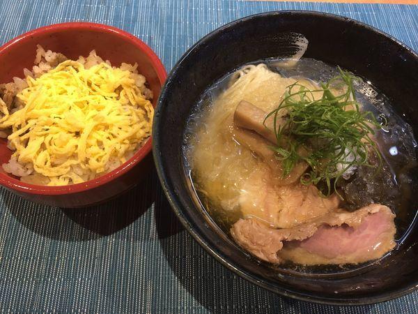 「冷やし塩煮干そば+穴子飯」@柴崎亭の写真