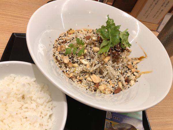 「汁なし担々麺(追い飯セット)+パーコー」@紀州清流担々麺 produce by KEISUKEの写真