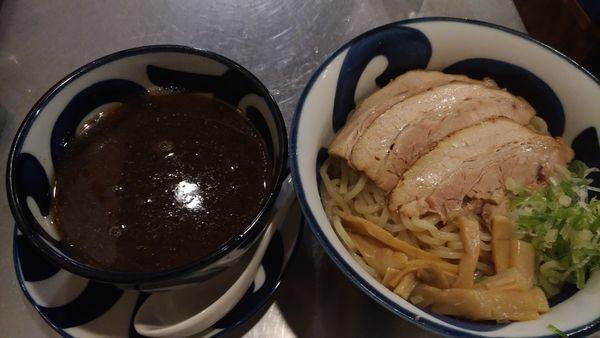 「醤油つけ麺」@らうめん 朝日堂の写真