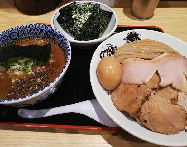 「濃厚チャーシューつけ麺(並)味玉+のり」@松戸富田麺業の写真