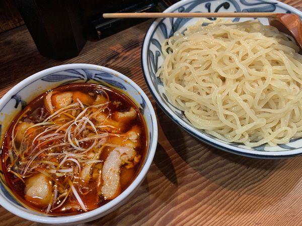 「ピリ辛肉つけ麺 大盛り」@無双 赤坂店の写真