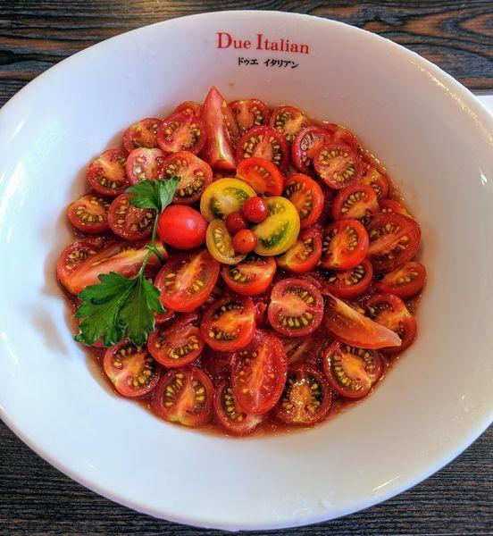 「冷製トマトコレクション 1,200円」@黄金の塩らぁ麺 due Italian 横浜青葉台店の写真