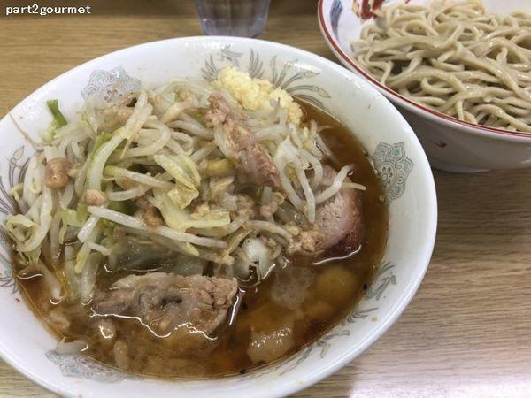 「つけ麺 「ニンニクアブラ」(850円)」@ラーメン二郎 栃木街道店の写真