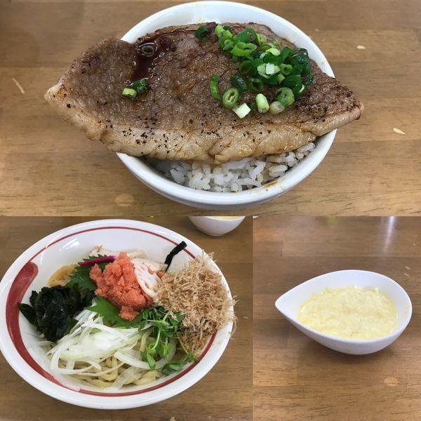 「稚加榮明太子粒子和え蕎麦B+ウフフ」@MENYA 食い味の道有楽の写真