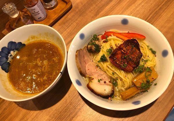 「限定・渡り蟹の濃厚ビスクつけ麺 ¥1200」@Niiの写真