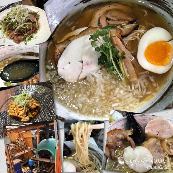 「石窯あご出汁麺980円 和牛牛タン&よだれ鶏」@西山屋の写真