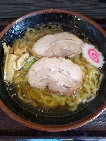「佐野らーめん 700円 ミニレアチャーシュー丼 300円」@麺匠えにしの写真