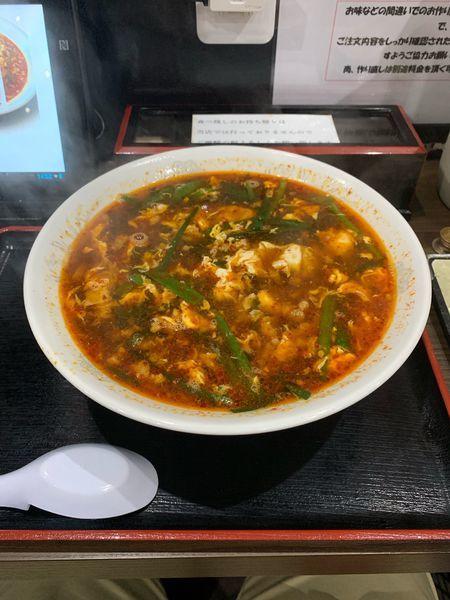 「辛麺2辛」@元祖辛麺屋  桝元 若松大鳥居店の写真
