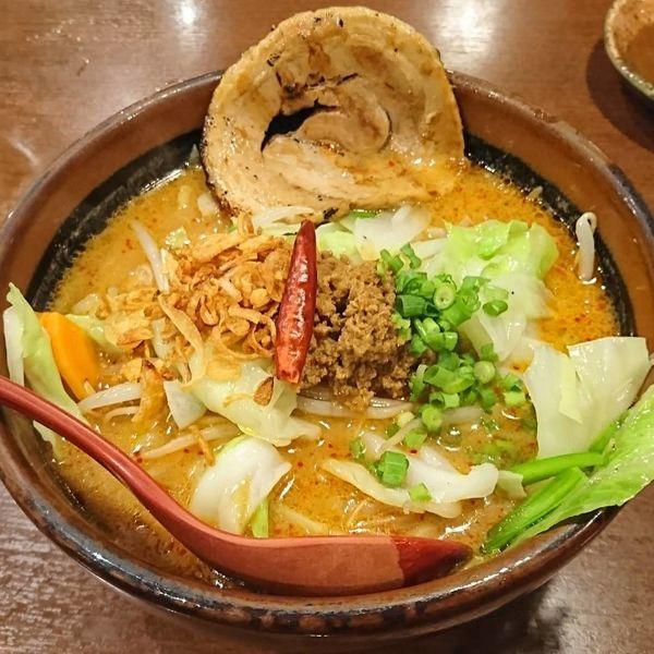 「山椒味噌らーめん 炙りチャーシュー」@蔵出し味噌 麺場壱歩 入間店の写真