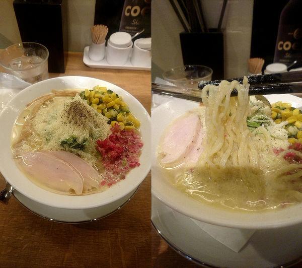 「限定『トウモロコシの冷たいらぁめん(¥1000)』」@箸とレンゲの写真