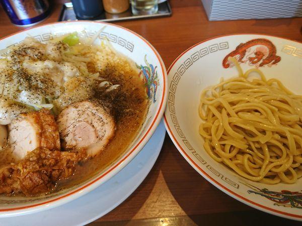 「ミニラーメン¥700+つけ麺変更¥100+味玉¥100」@ラーメン豚山の写真
