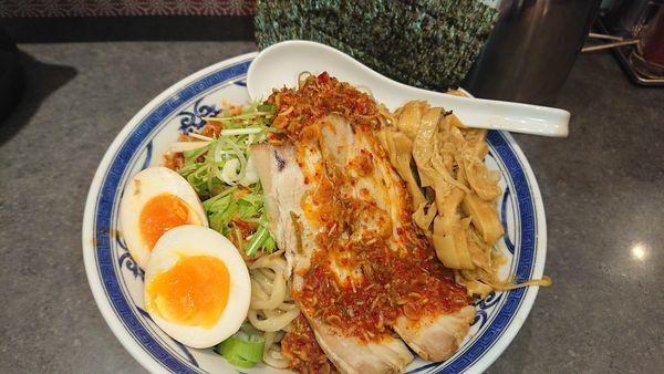 「[限定]辛味冷やし中華(950円)大盛無料」@つけ麺や 武双の写真
