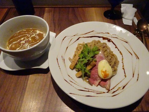 「つけ麺 みかんソース(M・ロース)」@Gion Duck Noodlesの写真