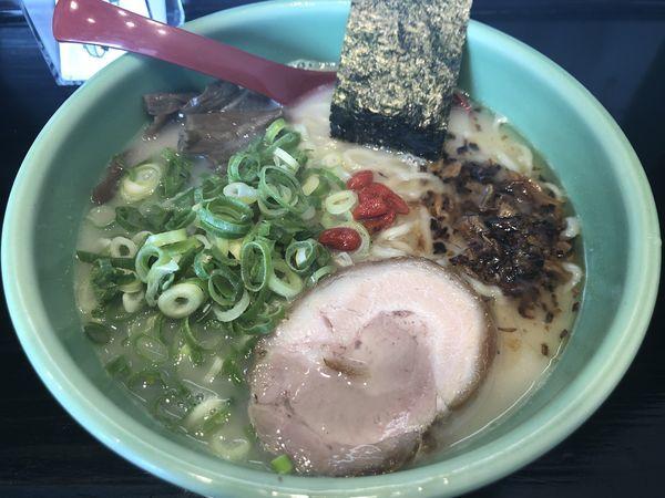 「太麺 ネギ入りラーメン」@麺匠 むさし坊 武蔵浦和本店の写真