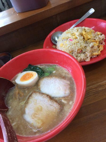 「醤油ラーメン+チャーハンセット」@幸来軒の写真
