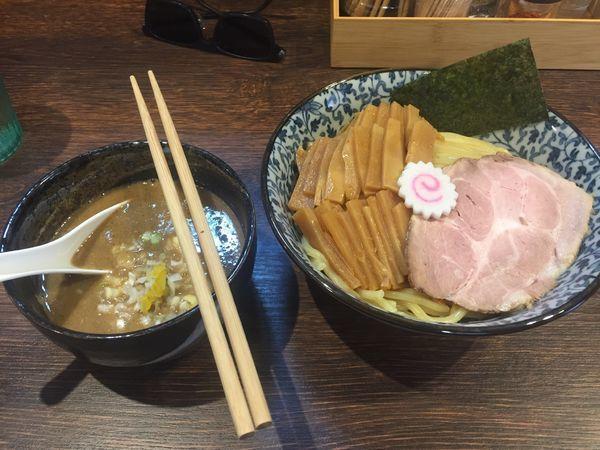 「つけ麺+中盛50円+たけのこ150円 1000円」@麺処はなぶさの写真