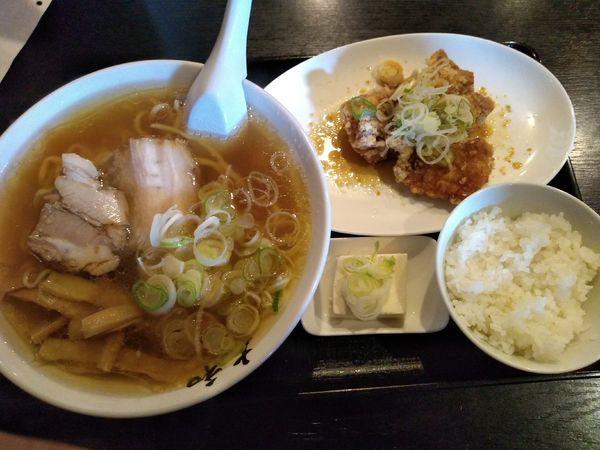 「唐揚げセット 930円」@佐野青竹手打ちラーメン 大和の写真