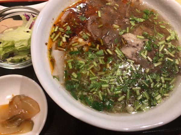「蘭州牛肉麺定食(ライス抜き)980円」」@川賀蘭州拉麺の写真