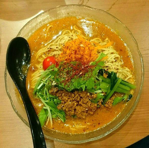「冷やしスパイス担々麺【夏期限定】」@ソラノイロ トンコツ&キノコの写真