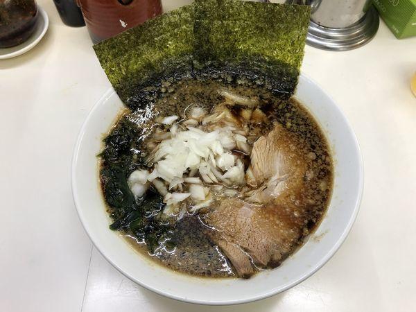 「ラーメン450円(毎週火曜日はサービスデー)」@三五八式の写真