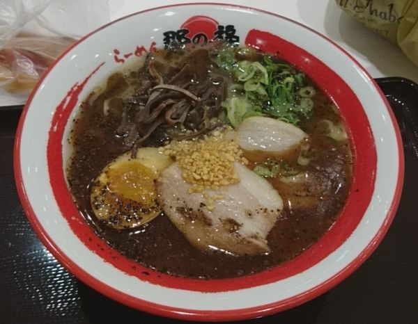 「黒とんこつラーメン」@那の福 東名上り富士川SA店の写真