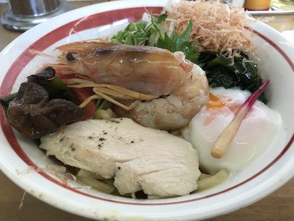 「【限定第二弾】海老&明太子和え蕎麦+タルタル」@MENYA 食い味の道有楽の写真