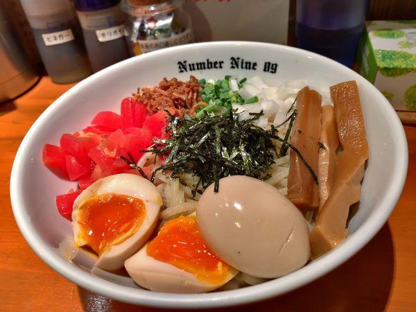 「【限定】冷やし辛まぜそば」@麺Dining Number Nine 09の写真