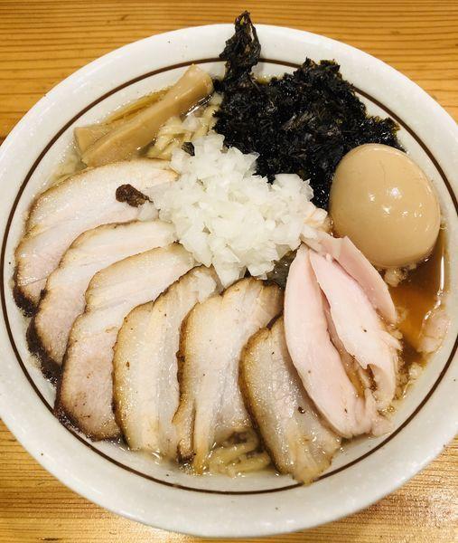 「特製背脂煮干蕎麦(トッピング チャーシュー)1250円」@中華そば 一陽来復の写真