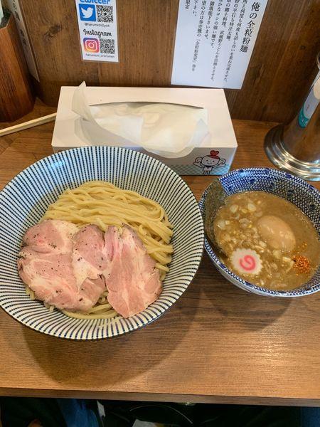 「つけ麺+味玉(950円)」@俺の麺 春道の写真