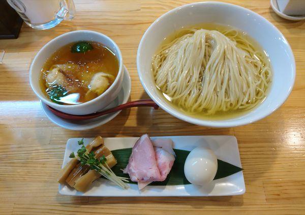 「濃厚清湯白醤油つけ麺」@自家製麺 くろ松の写真