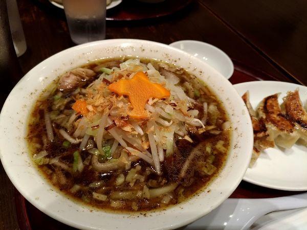 「醤油タンメンセット」@餃子とタンメン 天の写真