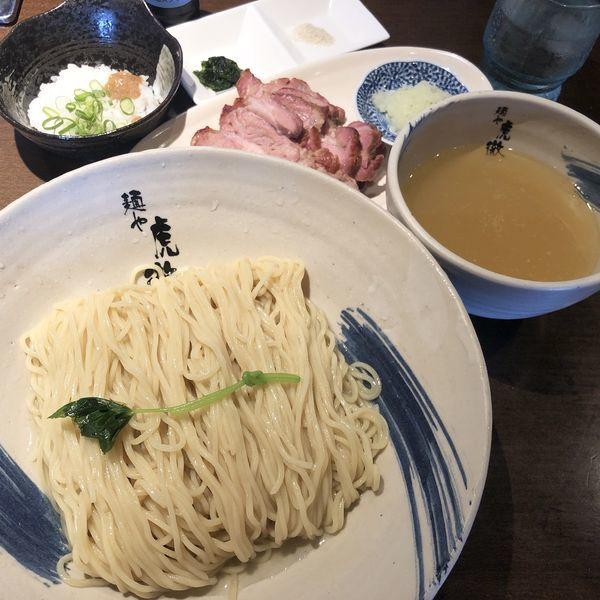 「【限定】薬涼 潮つけそば(大盛)+窯焼きチャーシュー」@麺や 虎徹の写真